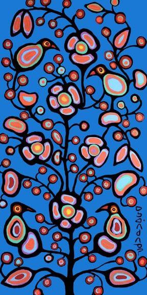Artist: Norval Morrisseau, Canadian Shaman. Good for Charlotte Oakley