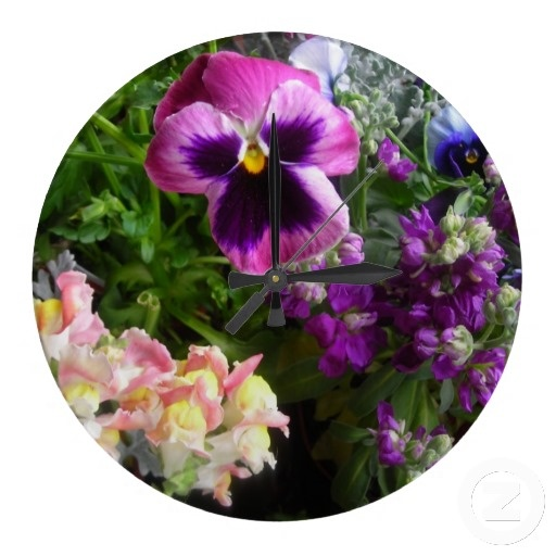 Pansy And Friends Wall ClockPretty Purple, Cards Sold, Greeting Cards, Friends Greeting, Friends Mouse, Zazzle, Purple Pansies, Cards Create, Moon Garden