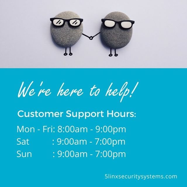 If you have any questions or concerns about your 5LINX security system, don't hesitate to contact us. Our customer support staff is specially trained to help you with any issue concerning your home or business alarm system!