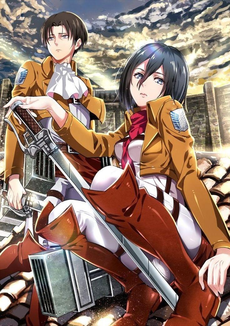 Attack On Titan - Shingeki No Kyojin - Ataque a los Titanes - Levi y Mikasa