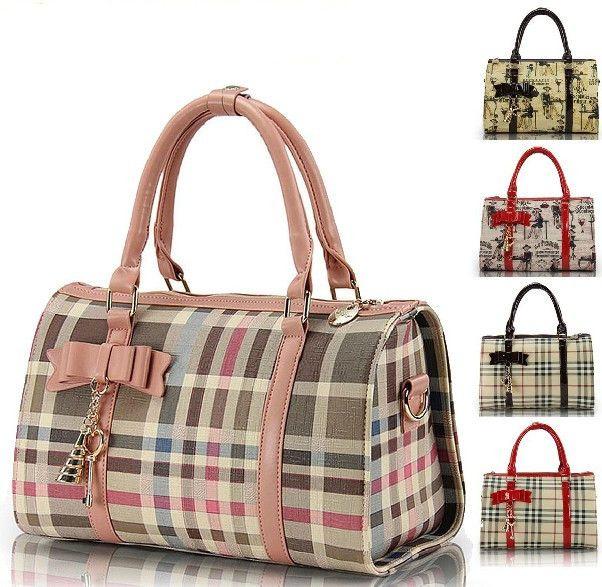 2013 Famous Brand Leather Women Handbags   Vintage Color Block Cartoon Casual Lady Shoulder Bags Women's Messenger Bag € 28,61