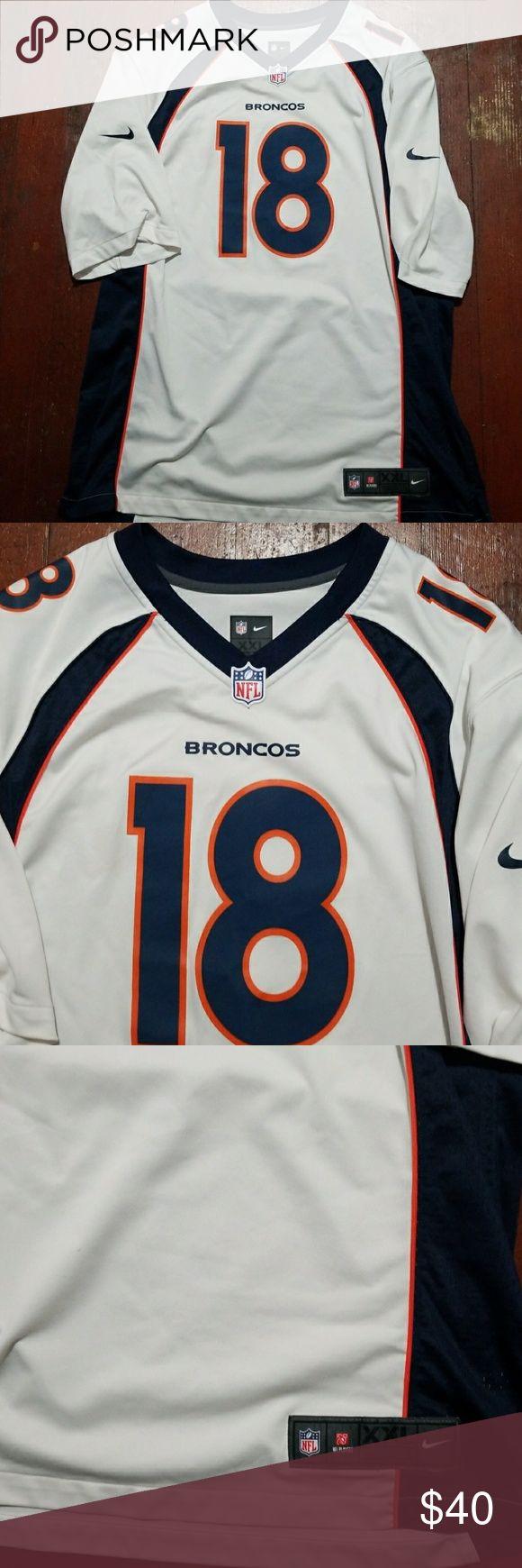 Denver Broncos Peyton Manning Nike Game Jersey 2xl Screen print name and numbers. Men's size 2xl Nike Shirts