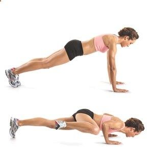 Spiderman push-ups - Kill the love handles, while working the abs and arms! One of my favorite moves in p90x3!!!
