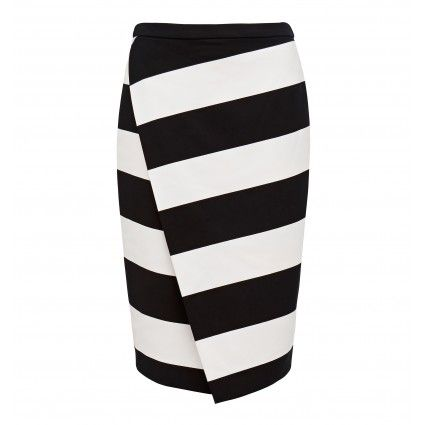Jodie Stripe Wrap Skirt Main Image
