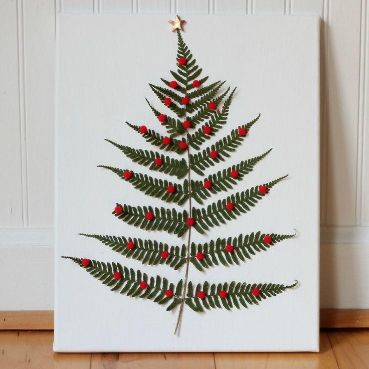 DIY Fern Leaf Christmas Tree