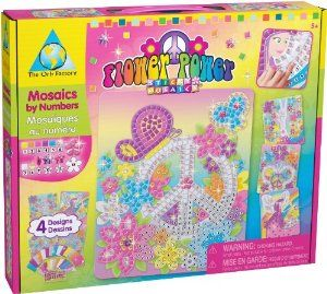 Sticky Mosaics® Flower Power by The Orb Factory. $13.87. Complete 4 Flower Power designs with all the ease of Sticky Mosaics®®.. Power to the Sticky Mosaic® Crafter!. The award winning line of Sticky Mosaic® craft kits will delight all ages and all skill levels.. Includes 4 designs, 4 wall hangers and over 2200 sticky foam and jewel pieces.. Great for play dates and birthday parties.. From the Manufacturer                Power to the Sticky Mosaic® Crafter!  Find...