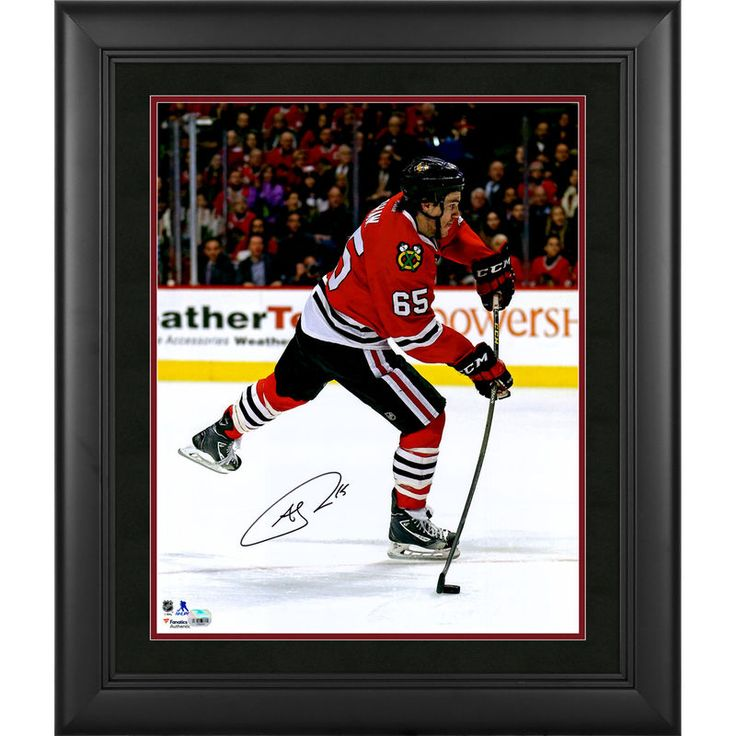 "Andrew Shaw Chicago Blackhawks Fanatics Authentic Framed Autographed 16"" x 20"" Red Jersey Shooting Photograph"