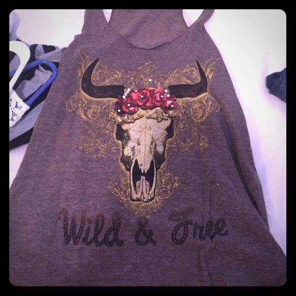 Wild & free skull tank Brand is atx Mafia size small Tops Tank Tops