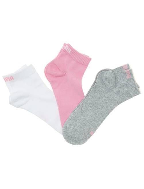 beef9e57f31b4 Lote de 3 pares de calcetines tobilleros  Puma  de caña corta ROSA Lencería  de