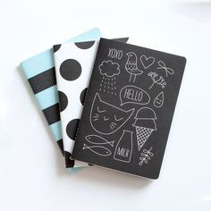 Stockholm Notebooks 3 Pack stationery, multi, journals