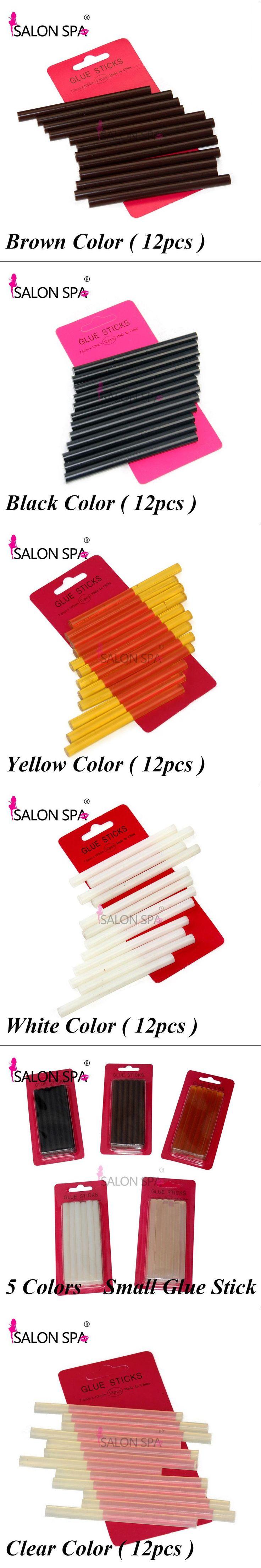 Keratin Glue Sticks 12pc/pack Hot Melt Glue Sticks 10mm*7mm Professional Hair Tools 5 Colors For Fusion Keratin Hair Extensions