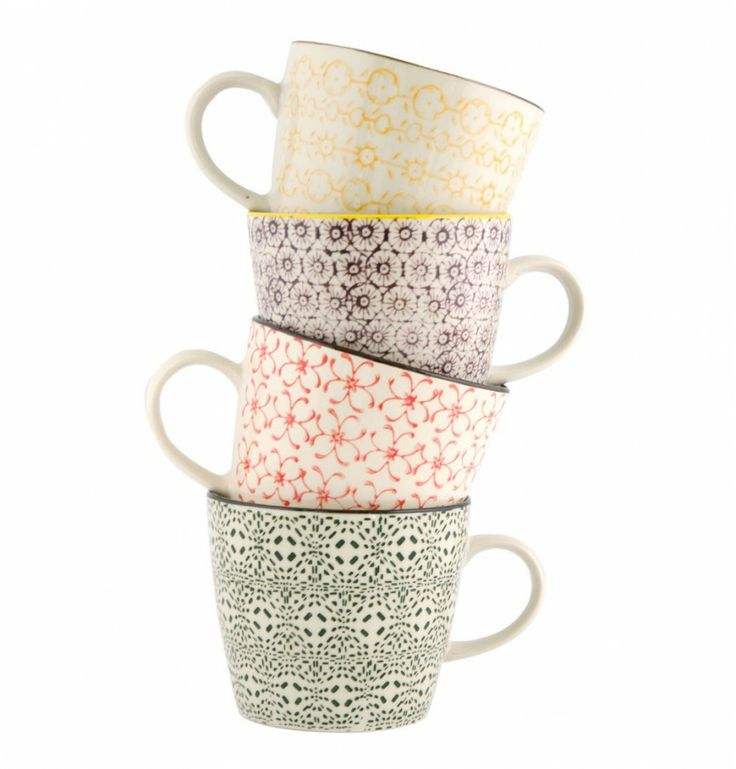 would make me happy to have my morning coffee in these cups.