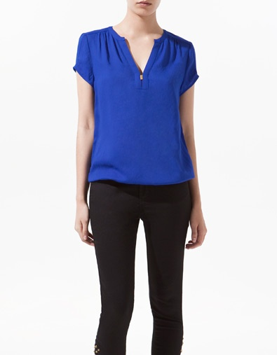 BLOUSE WITH GOLDEN APPLIQUÉ - Shirts - Woman - New collection - ZARA United States