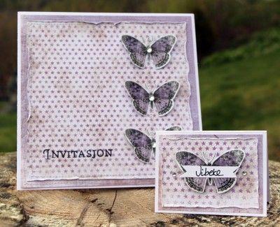 invitasjon og bordkort