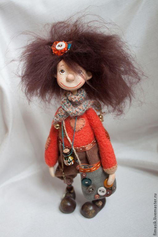 Купить Пуговка - душевный подарок, теплый подарок, авторская работа, авторская кукла, интерьерная кукла