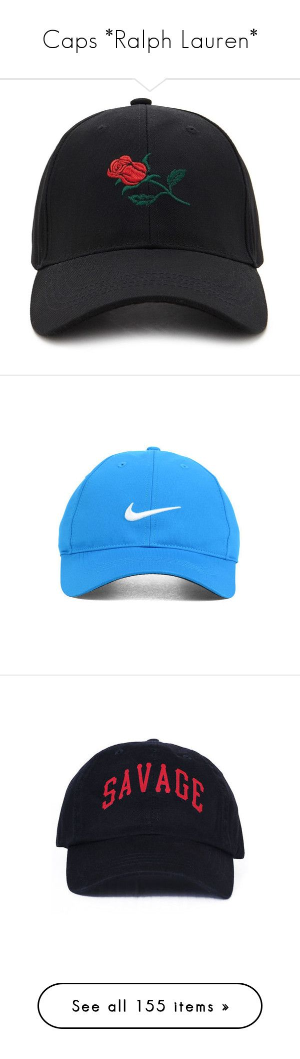 """""""Caps *Ralph Lauren*"""" by younglolita ❤ liked on Polyvore featuring accessories, hats, snapback cap, embroidered baseball hats, adjustable hats, cotton hat, baseball cap hats, nike, nike golf cap and nike golf hats"""