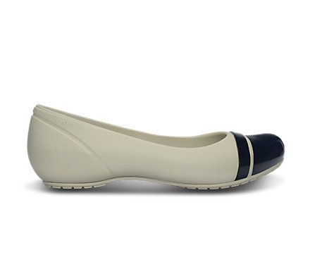 Loving this Stucco & Black Cap Toe Flat - Women on