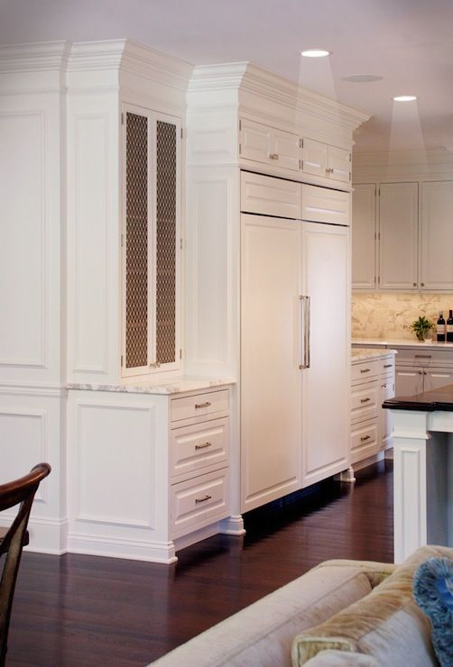 The House of L - kitchens - creamy white cabinetry, inset kitchen cabinets, concealed fridge, cabinet fronted fridge freezer, cabinet fronte...