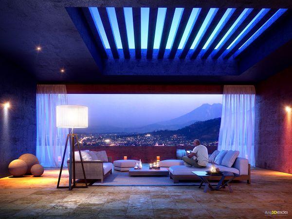 Un plafond original, Neon Design
