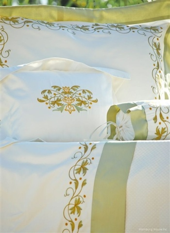 FRANCINE HOME COLLECTION  luxury bed linens  Luxury Sateen  Turning Leaf 600  35.00 to 1526.00 per  piece.