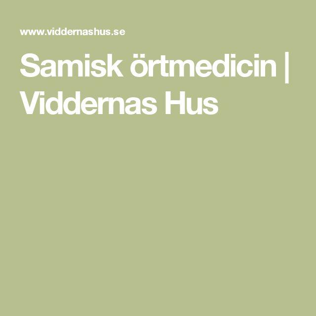 Samisk örtmedicin | Viddernas Hus