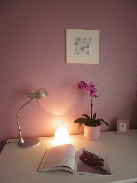 purple home office