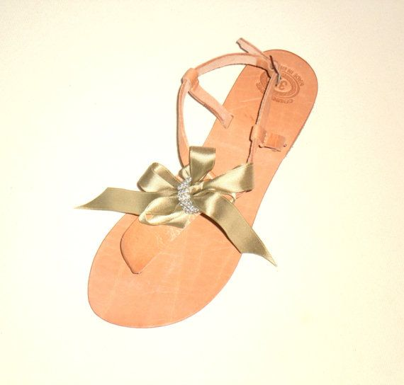 Bridal Shoes - decorated handmade leather sandals 47$