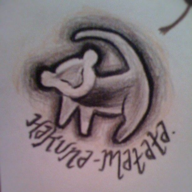 hakuna matata :) tattoo idea @Matt Nickles Nickles Valk Chuah red stitch Anderson.. Thought you might like this