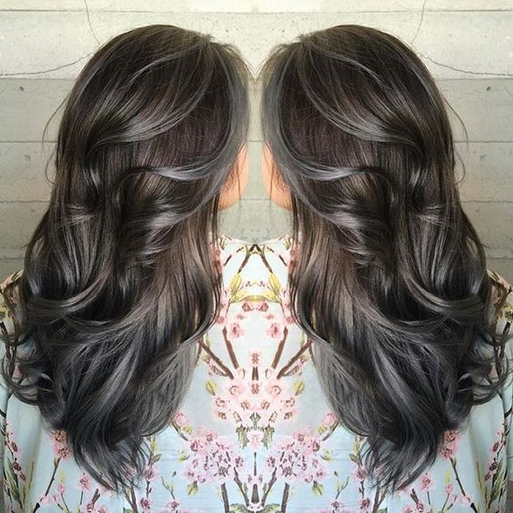 Amazing Grey Silver Highlights ί ά