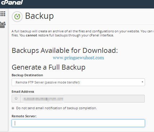 Transfer Full Backup dari Server Lama ke Server Baru