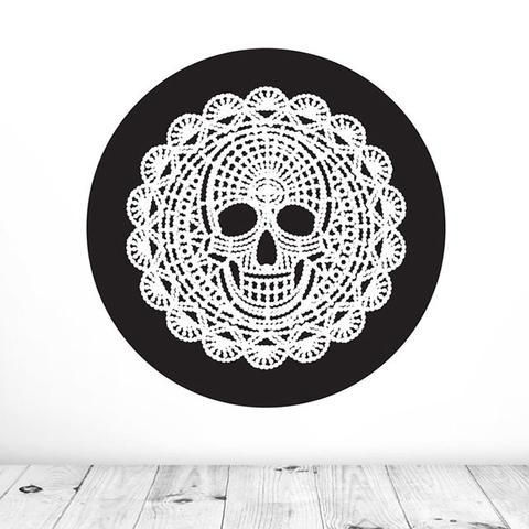 Death By Doily Mural Dot Decal