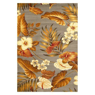 KAS Rugs LIF54 Lifestyles Tropical Area Rug Slate Tropical - LIF546023X77RU, KAS442-10