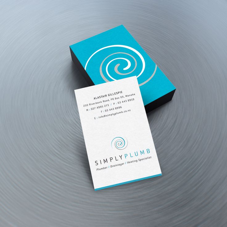 Simply Plumb business cards