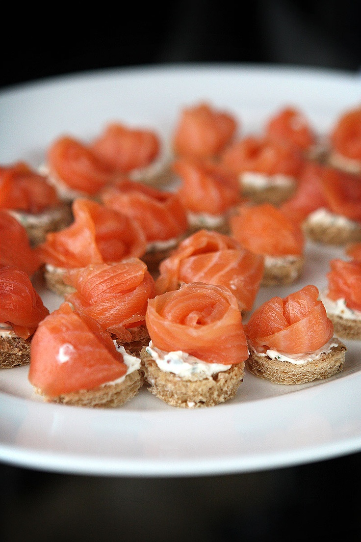 Salmon & Cream Cheese Canapes