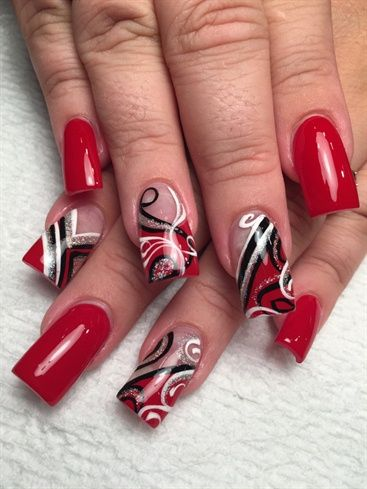 Fire by AlysNails from Nail Art Gallery