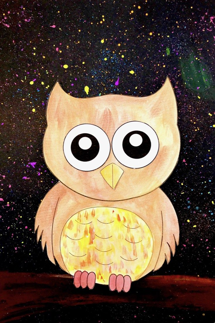 Watercolour Owl | kids fun | Owl watercolor, Owl templates