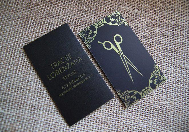 Cartões de visitas criativos para cabeleireiras (os) | Melhores Makes