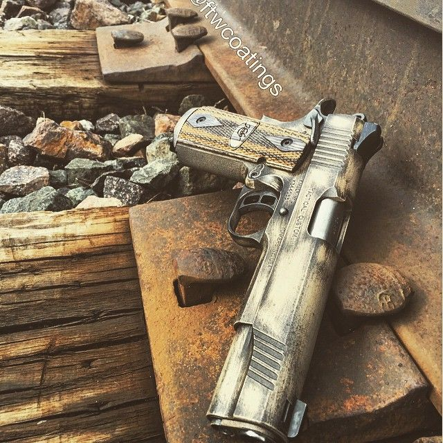 Battleworn kimber 1911 we did yesterday. I really like how it turned out. #kimber #1911 #battleworn ...