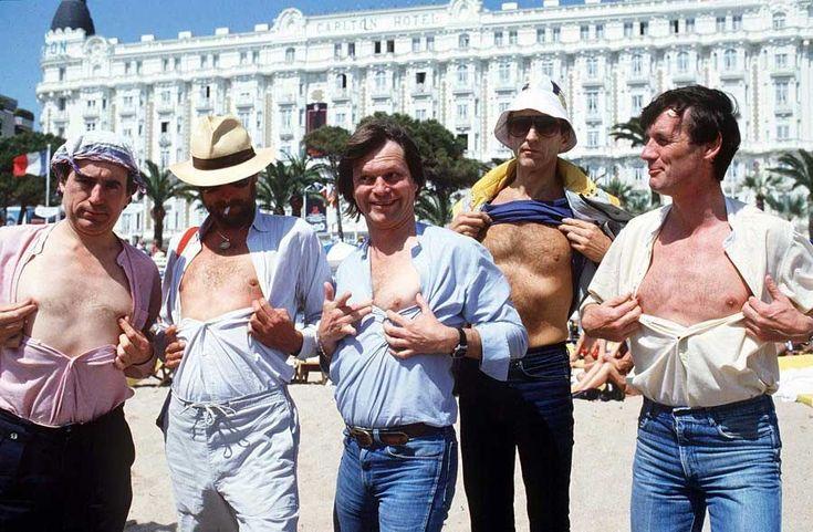 Rare and beautiful celebrity photos | Terry Jones, Eric Idle, Terry Gilliam, Graham Chapman and Michael Palin