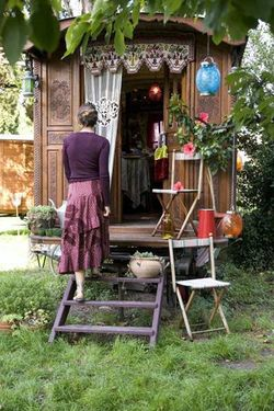 gypsy trailer...I want one of these in my back yard, as a reading retreat
