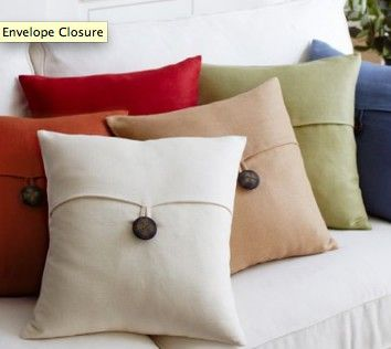 Pillow Closure Ideas: 15 best III  BEDDING AND PILLOW STYLES  40  ENVELOPE CLOSURE    ,