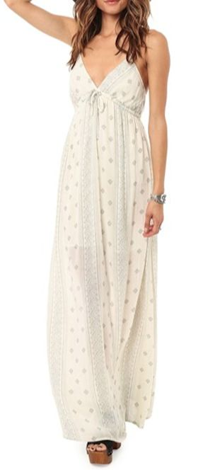 grey printed maxi dress