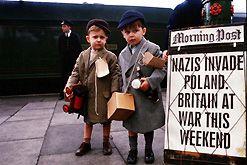 Evacuating wartime London, gas masks and newspaper headlines