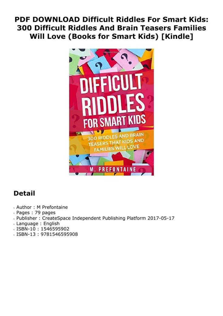 PDF Difficult Riddles For Smart Kids 300 Difficult