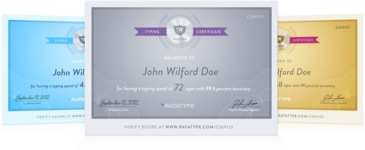 Test your typing speed and get a certificate
