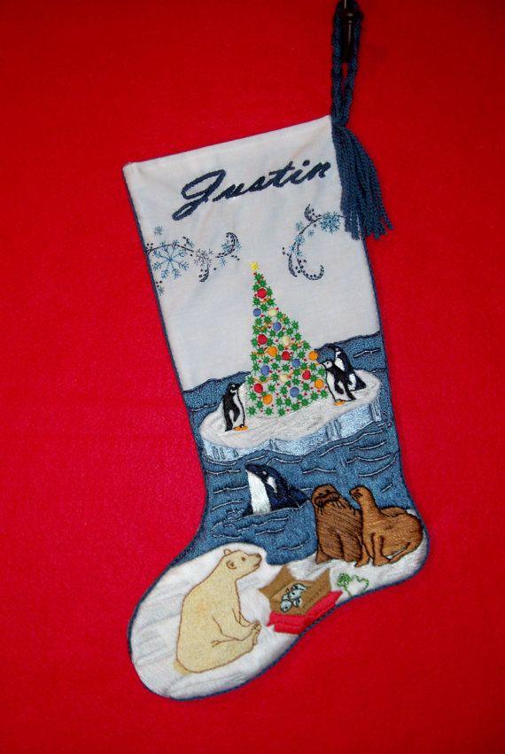 22 Best Red Velvet Christmas Stockings Images On Pinterest