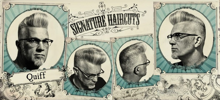 Psychobilly Hairstyle Men Barbers haircuts, men cut,