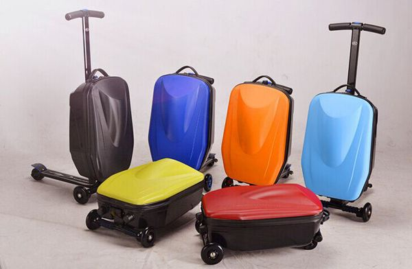 High Quality Kids Luggage Scooter Suitcase http://luggageforkids.net