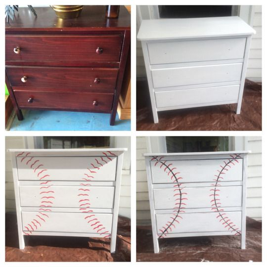 DIY baseball dresser/chest
