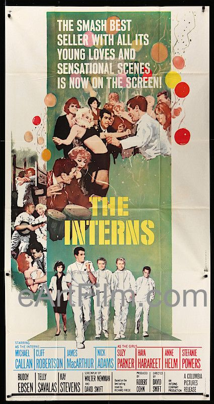 Interns, The 1962 41x81 US 3 Sheet Cliff Robertson-James MacArthur